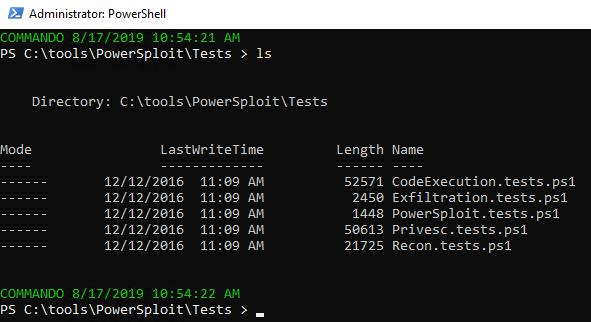 PowerSploit test